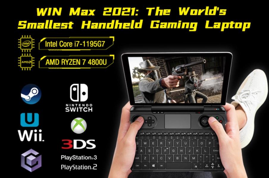 WIN Max 2021: Laptop tích hợp gamepad độc đáo từ Indiegogo